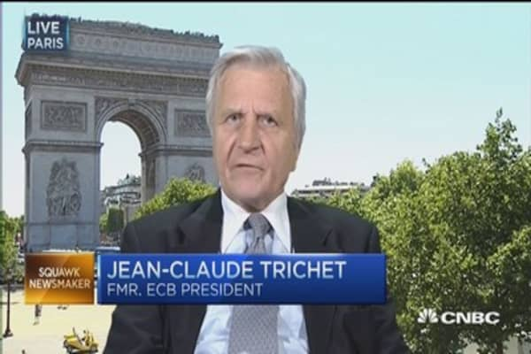 Trichet remains 'prudent' on Greece's 'game of chicken'