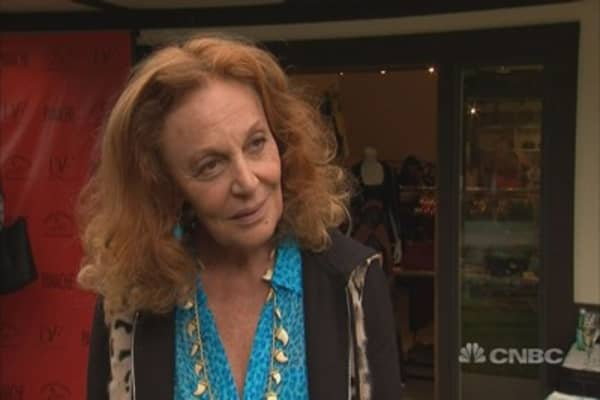 Diane Von Furstenberg talks high tech in high fashion