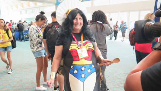 An attendee at Comic-Con in San Diego.