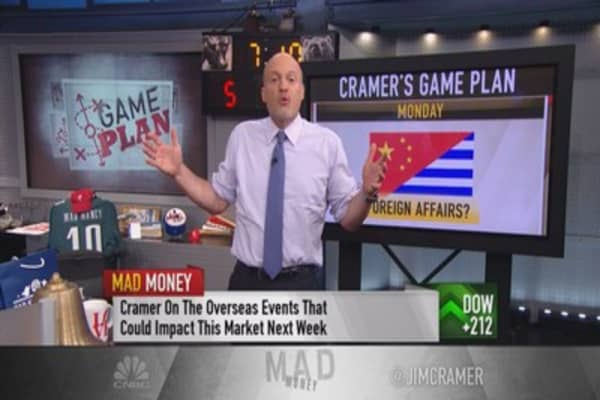 Cramer: next week gauntlet of Greece, China & earnings