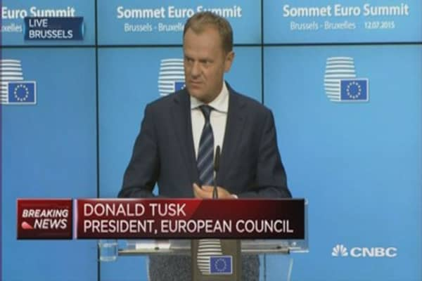 EU reaches agreement on Greece: EC President Tusk