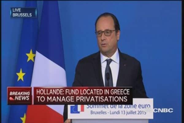 Tsipras made a courageous choice: Hollande