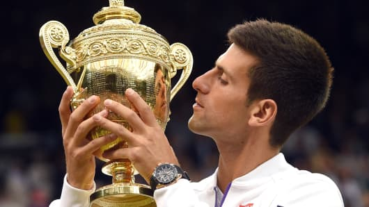 Novak Djokovic at Wimbledon 2015