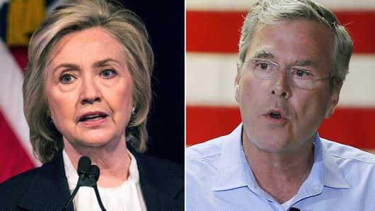 Hillary Clinton and Jeb Bush.