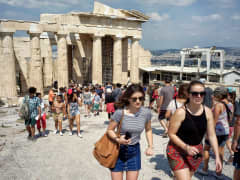 Greece tourists