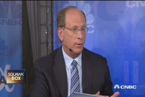 Surprised if rates aren't raised in September: Larry Fink