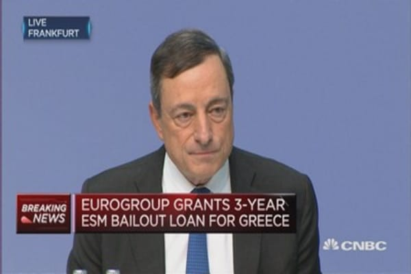 Things have changed in Greece: Draghi