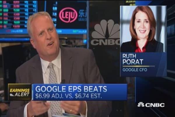 Investors happy with Google's Q2