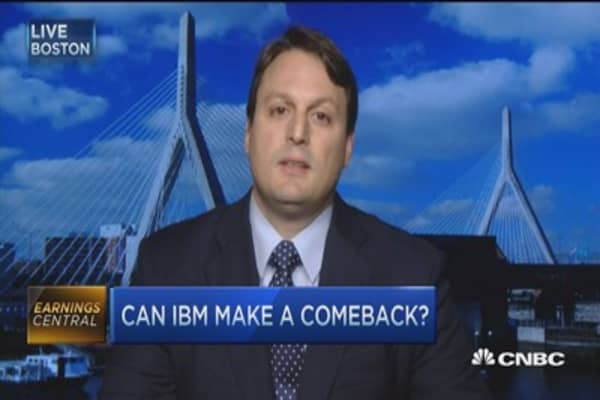 IBM earnings mixed... revenue a worry: Pro