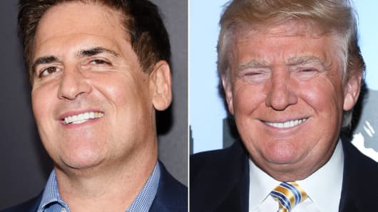 Mark Cuban and Donald Trump