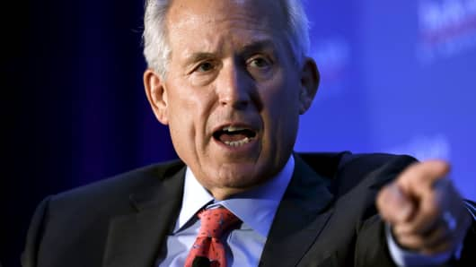 Boeing Company Chairman of the Board Jim McNerney speaks at The Economic Club of Washington in Washington July 29, 2015.