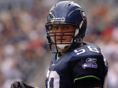 Isaiah Kacyvenski plays in the 2013 Super Bowl for the Seattle Seahawks.