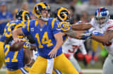 Shaun Hill #14 of the St. Louis Rams passes against the New York Giants at the Edward Jones Dome on December 21, 2014 in St. Louis, Missouri.