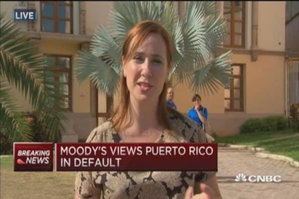 Moody's: Puerto Rico in default