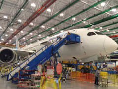 Inside the Boeing Manufacturing plant in Charleston, South Carolina.