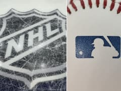 NHL and MLB league logos.
