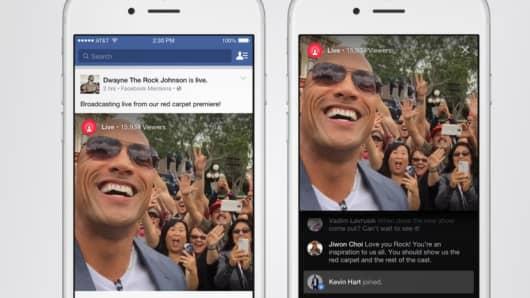 Facebook Live screens