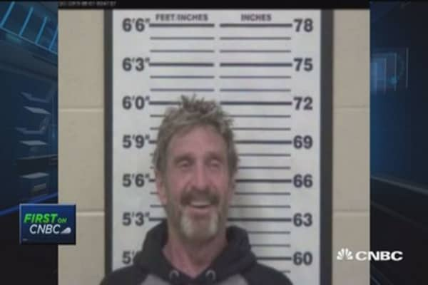 McAfee's new legal issues