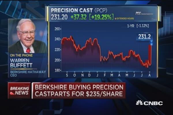 Warren Buffett: Precision deal 'very high multiple'