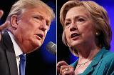 Donald Trump (L) and Hillary Clinton (R).