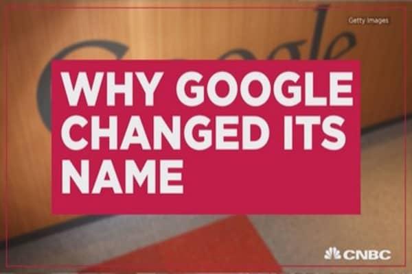 Three reasons why Google changed its name