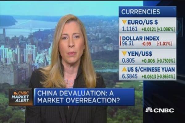 China devaluation = market overreaction?