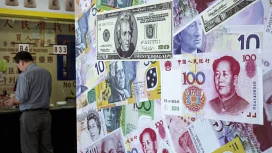 Currency exchange yuan dollars