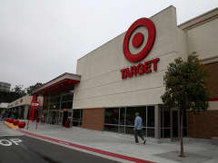 A customer enters a Target store in Colma, California.