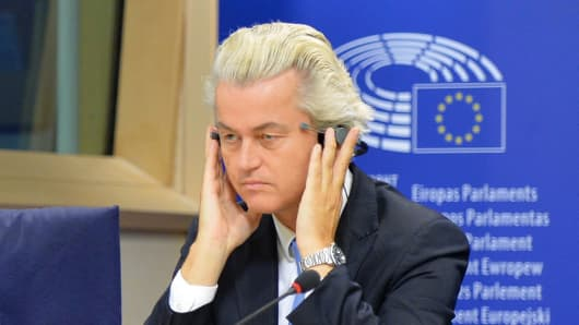 Geert Wilders, leader of the Party for Freedom (PVV).