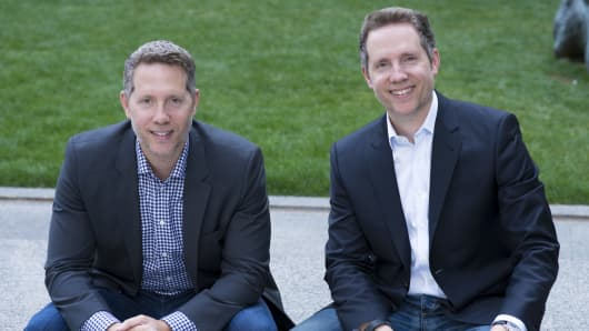 Mogo Financial Technology c0-founder and CEO, David Feller (L) and co-founder and CFO, Greg Feller (R).
