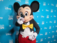 Mickey Mouse on the red carpet at the 2015 D23 Expo in Anaheim, Calif.