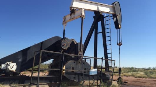 A pump jack in Midland Texas.