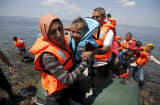 Migrant Crisis Syrian refugees Lesbos Greece