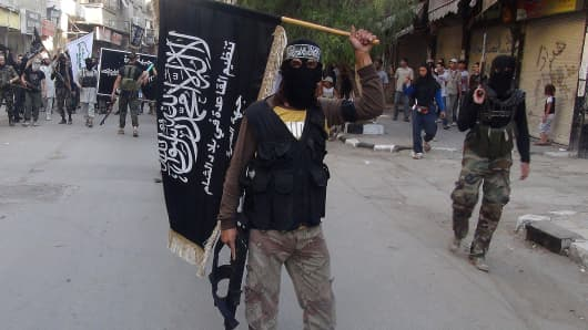 Islamic fighters from the al-Qaida group in the Levant, Al-Nusra Front. (File Photo).