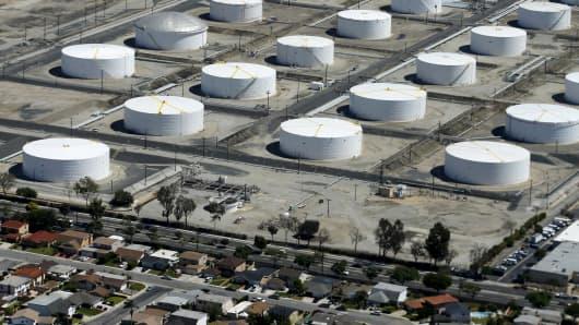 A Shell Oil facility in Carson, California