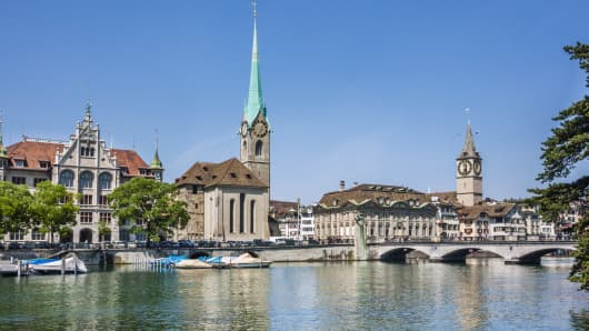 The River Limmat in Zürich