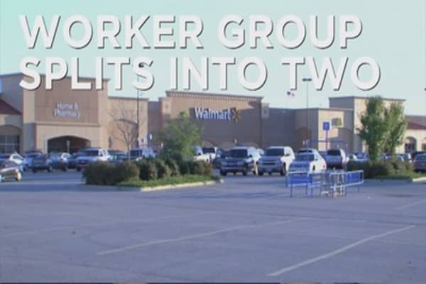 Walmart worker group splits into two