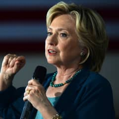 Democratic Presidential candidate Hillary Clinton speaks during a community forum on substance abuse September 17, 2015 in Laconia, New Hampshire.