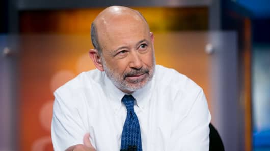 Lloyd Blankfein, Chairman and CEO of Goldman Sachs.