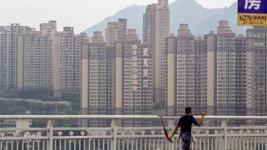 New residential buildings in Chongqing.