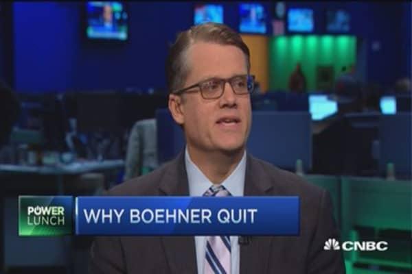 Will Boehner's resignation dampen shutdown threat?