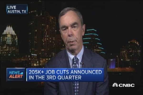 September job cuts up 43%