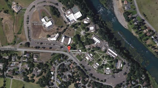 Shooting reported at Umqua Community College in Roseburg, Oregon on Oct. 1, 2015.