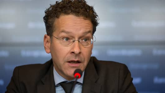 Jeroen Dijsselbloem, Dutch finance minister and head of the group of euro-area finance ministers.