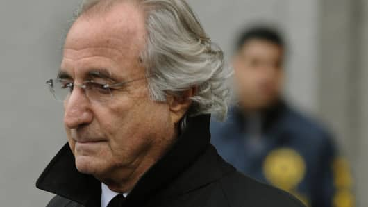 Bernard L. Madoff leaves U.S. Federal Court on Jan. 14, 2009, after a hearing regarding his bail in New York.