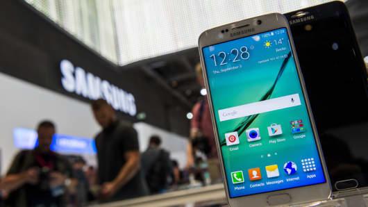 Samsung's Galaxy S6 edge smartphone.