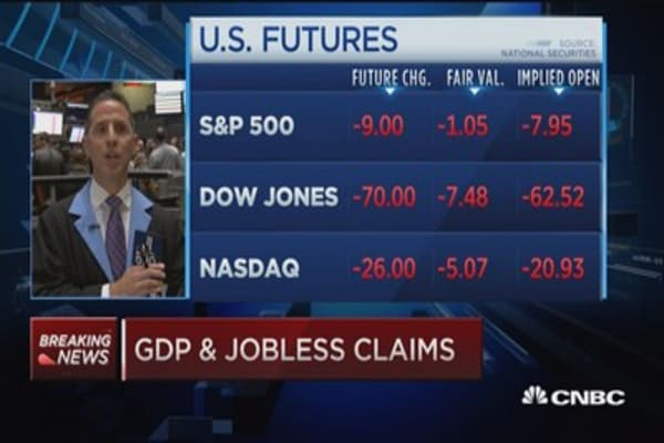 Q3 GDP up 1.5%, jobless claims 260,000