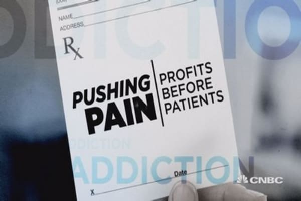 A drug company making millions off your pain