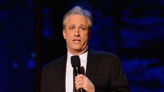 Comedian Jon Stewart.