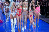 Victoria's Secret Angels during the finale of the 2015 Victoria's Secret Fashion Show.
